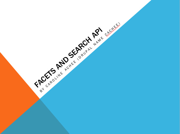 Facets and Search API